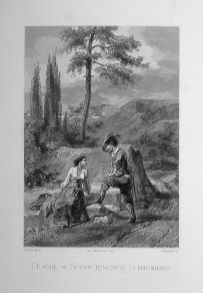 Le pere de Scipion rencontre la bohémienne.