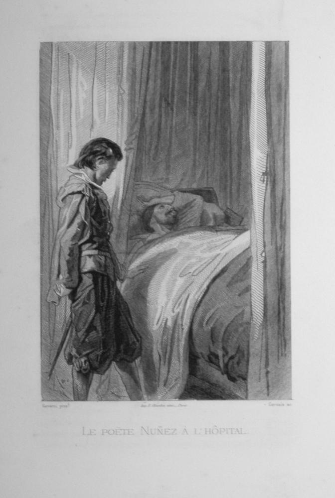Le poete Nunez a l' hôpital  -  1863