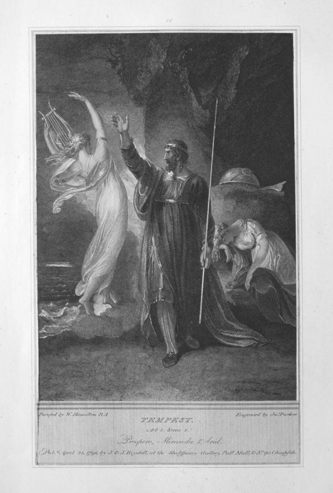 Tempest. Act 1, Scene 2. Prospero, Miranda & Ariel.