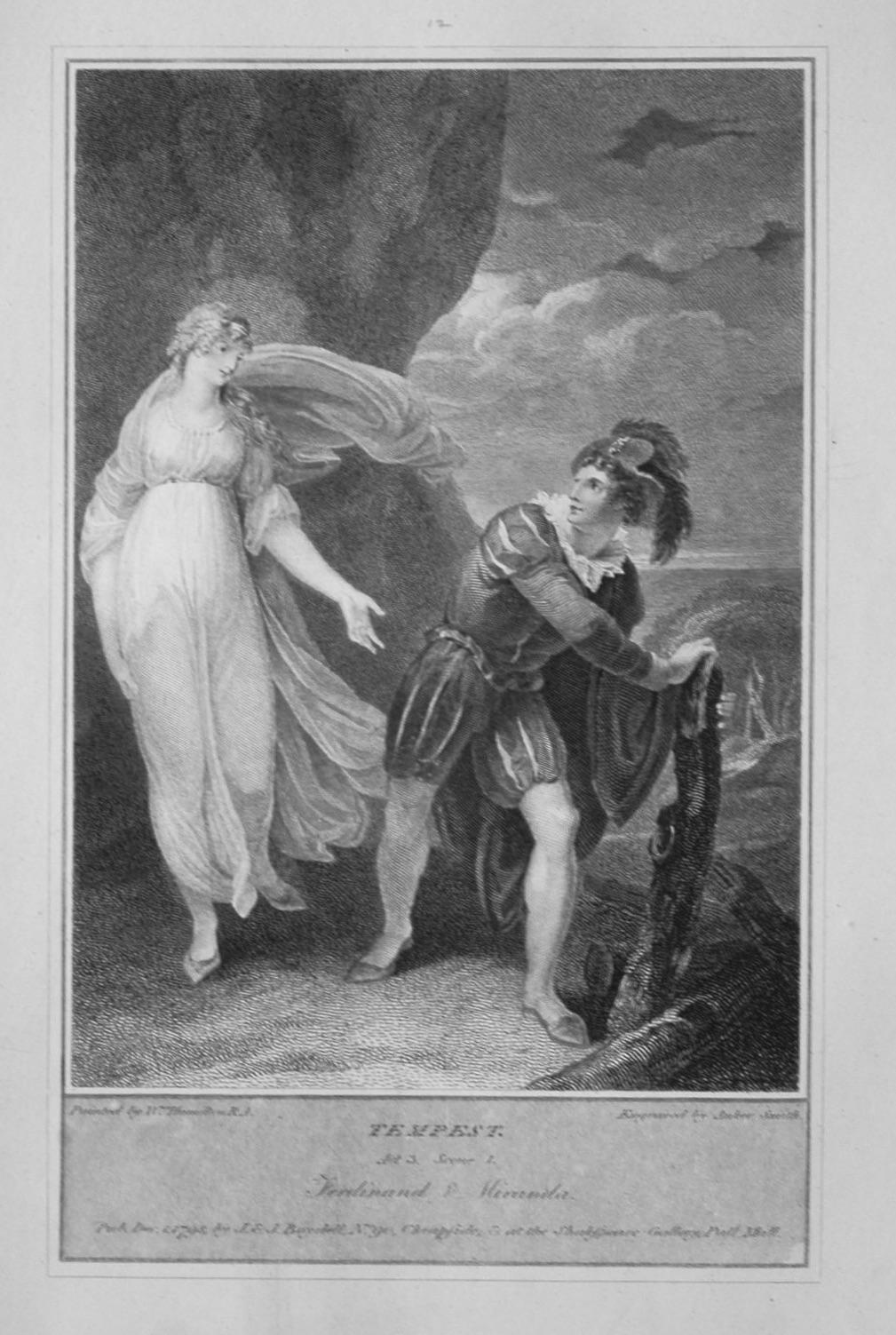 Tempest. Act 3, Scene 1. Ferdinand & Miranda.