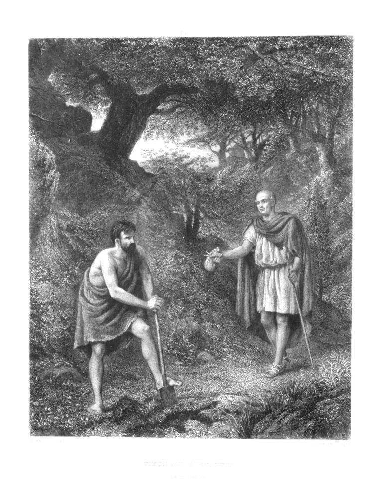 Timon and Apemantus. (Timon of Athens)