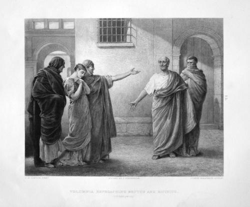 Volumnia Reproaching Brutus and Sicinius.