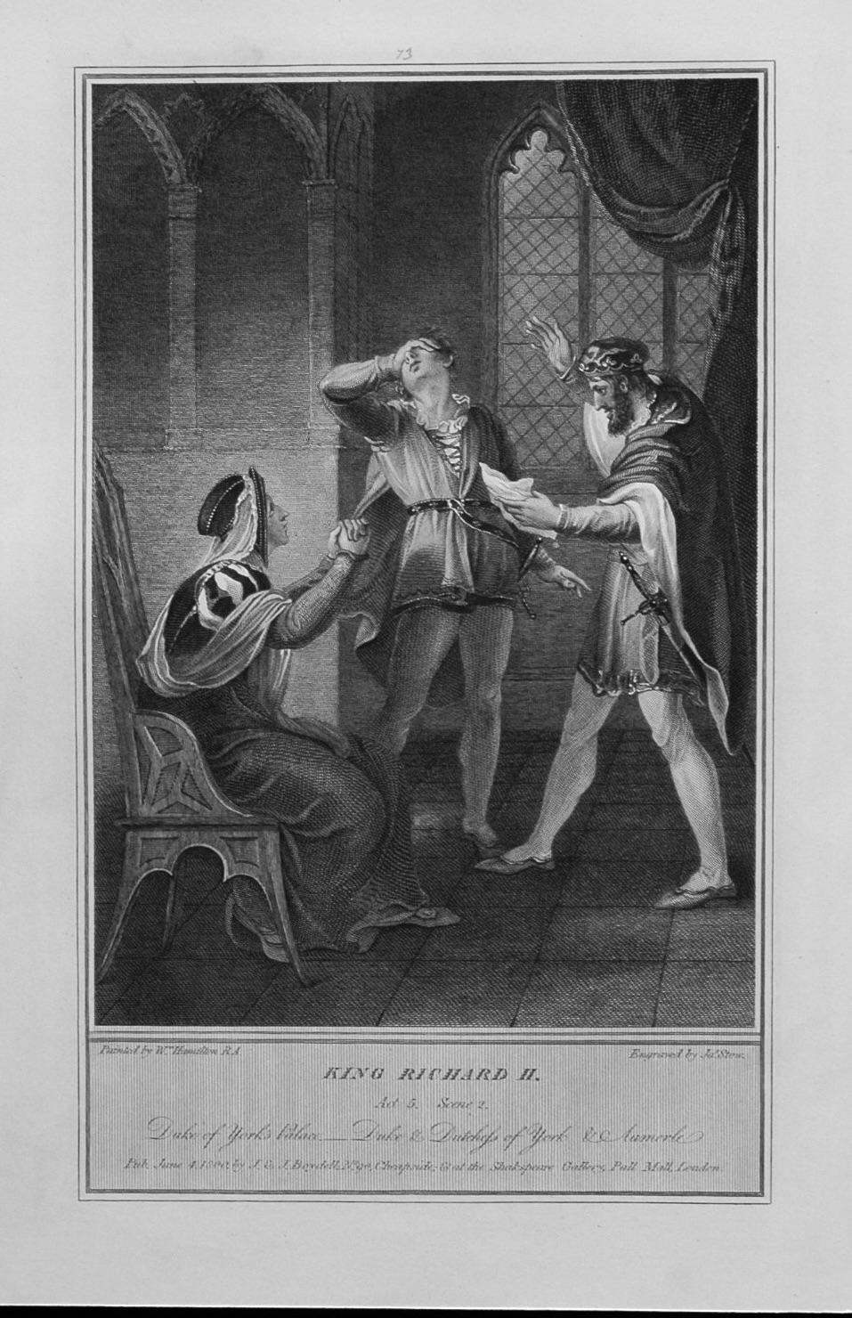 King Richard II. Act 5. Scene 2.