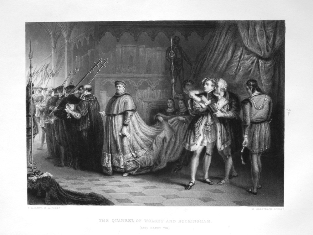 The Quarrel of Wolsey and Buckingham.