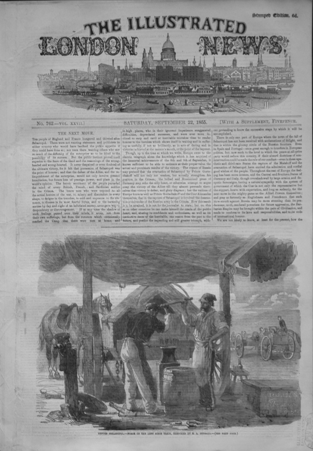 Illustrated London News Sept 22nd 1855.