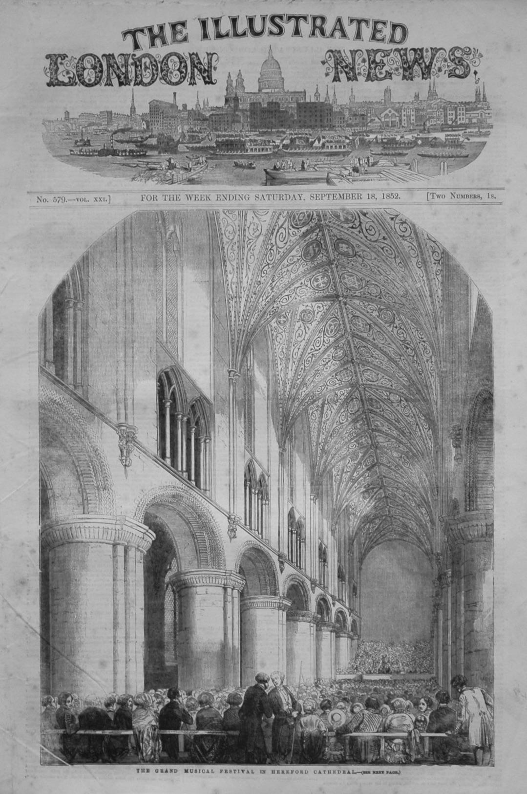 Illustrated London News September 18th 1852.