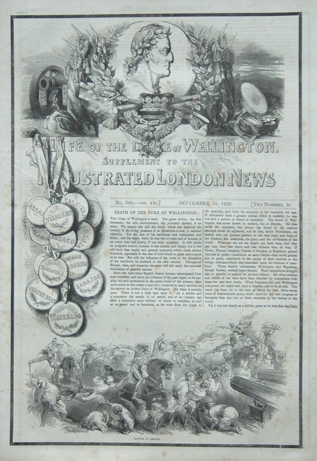 Life of The Duke of Wellington. (Supplement)