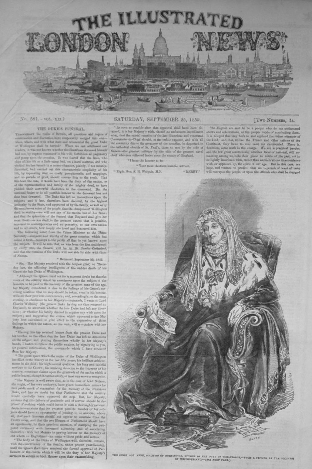Illustrated London News, September 25th, 1852.