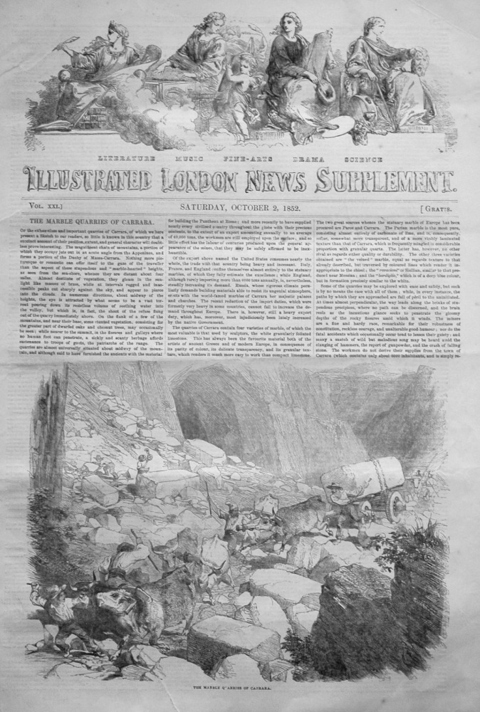 Illustrated London News (Supplement)  October 2nd, 1852.