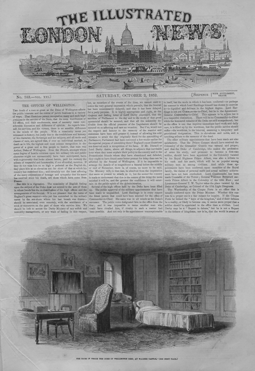Illustrated London News October 2, 1852.