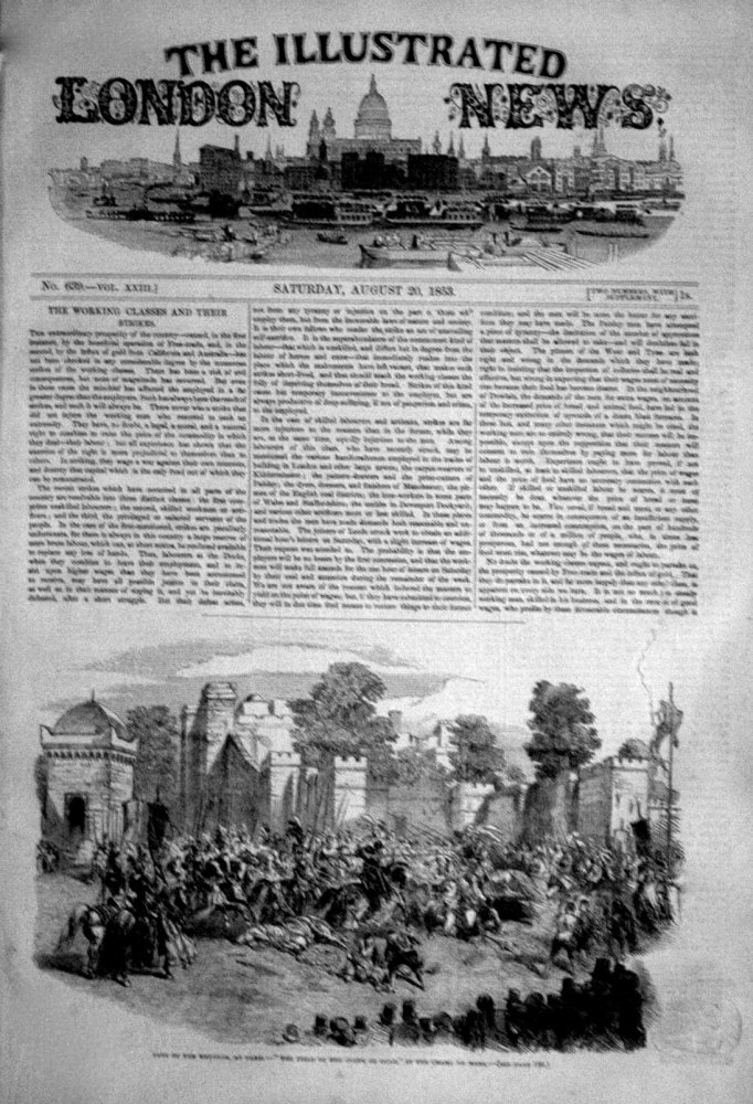Illustrated London News Aug 20th 1853.