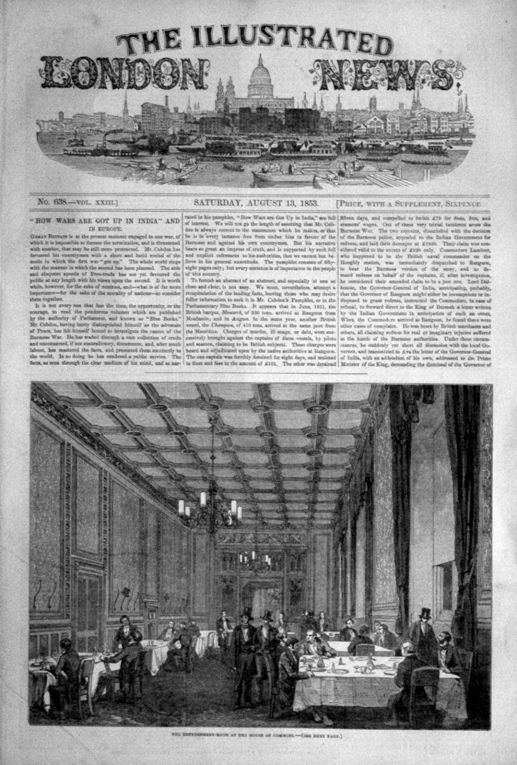 Illustrated London News Aug 13th 1853.