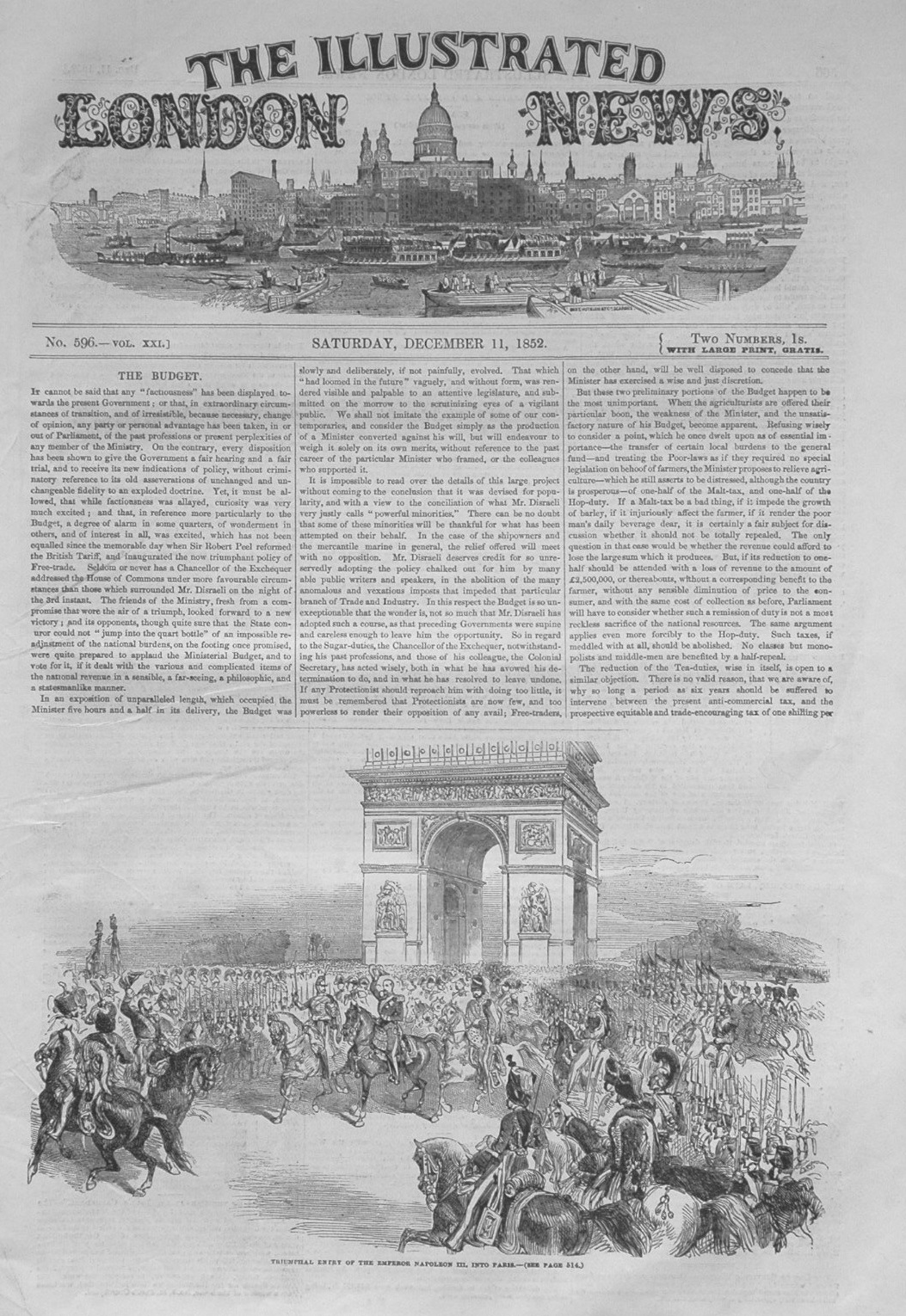 Illustrated London News, December 11th 1852.
