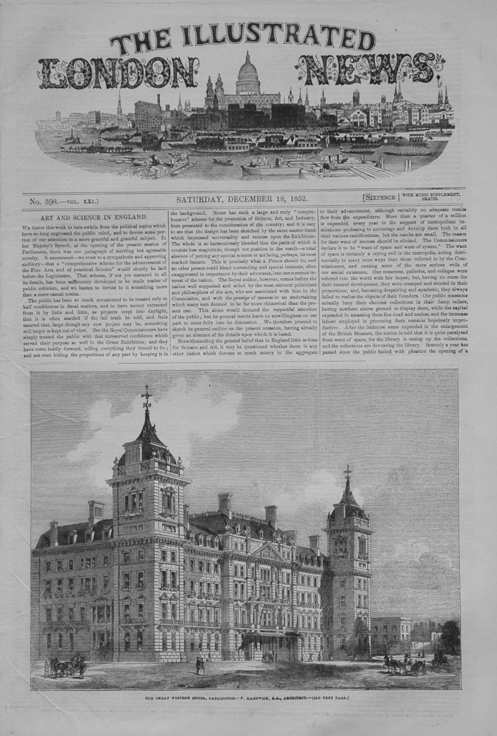 Illustrated London News, December 18th 1852.