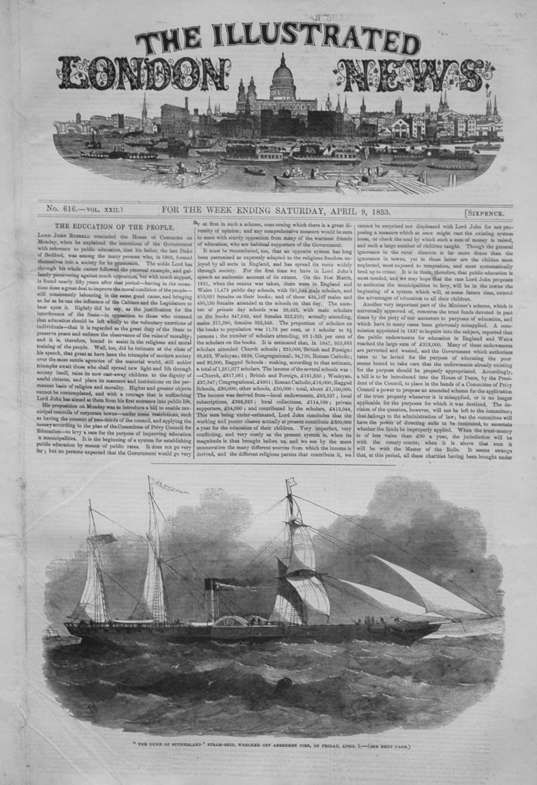 Illustrated London News, April 9th 1853.