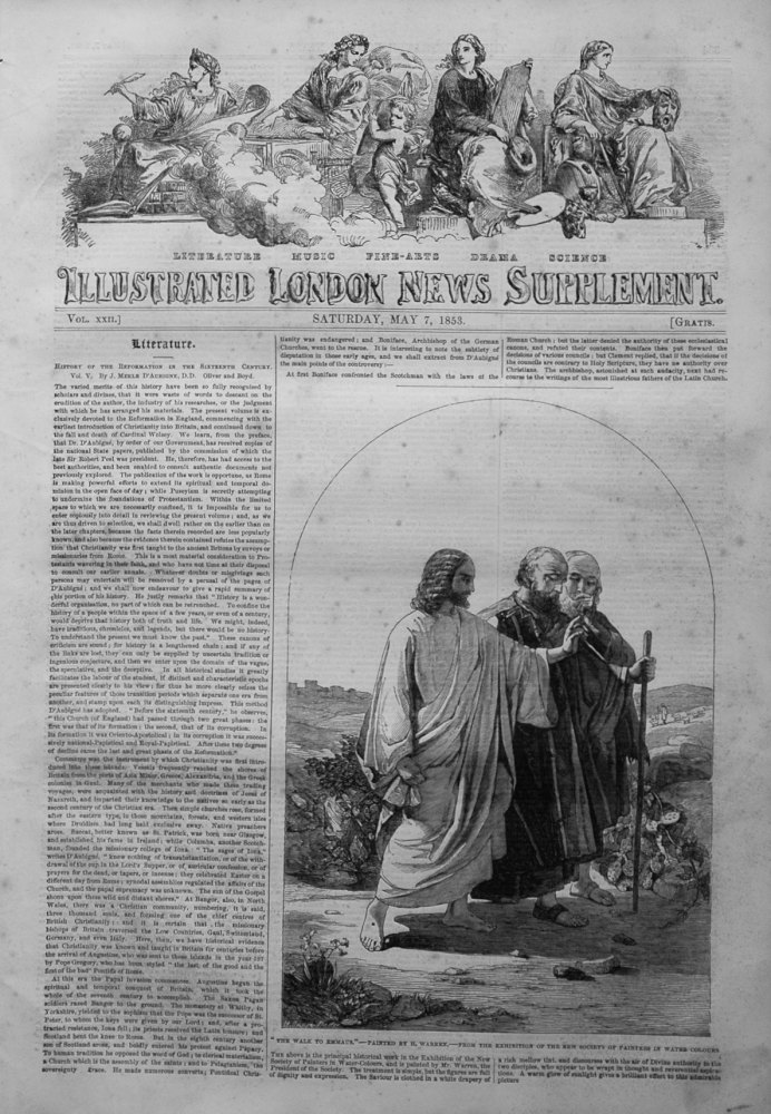 Illustrated London News, Supplement for May 7th, 1853.