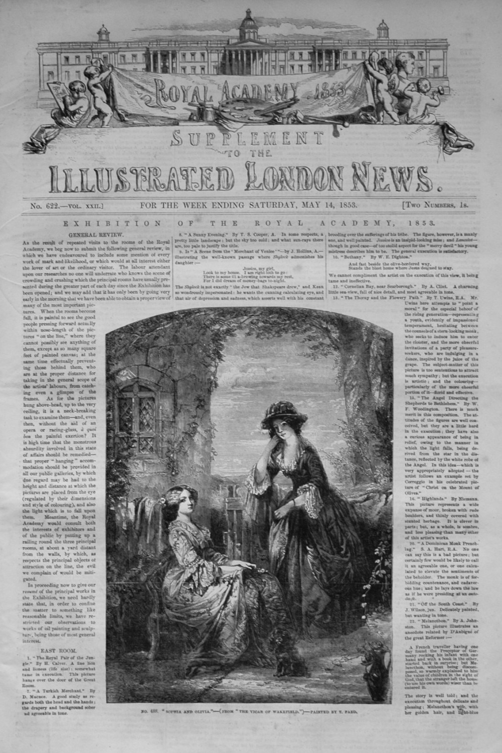 Illustrated London News (Supplement) For May 14th, 1853.