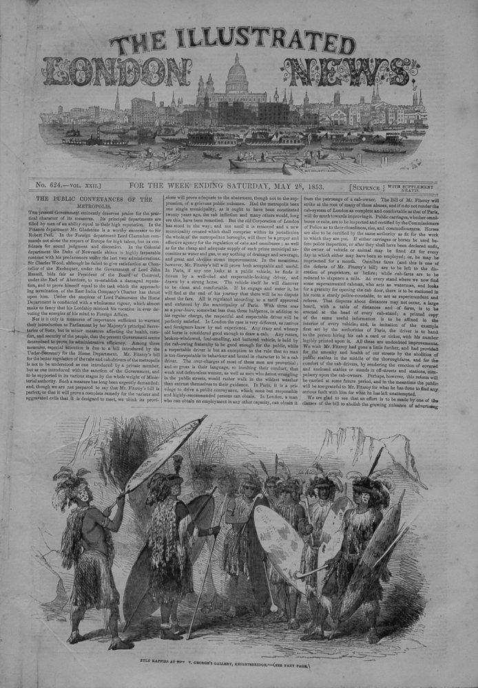 Illustrated London News, May 28th 1853.