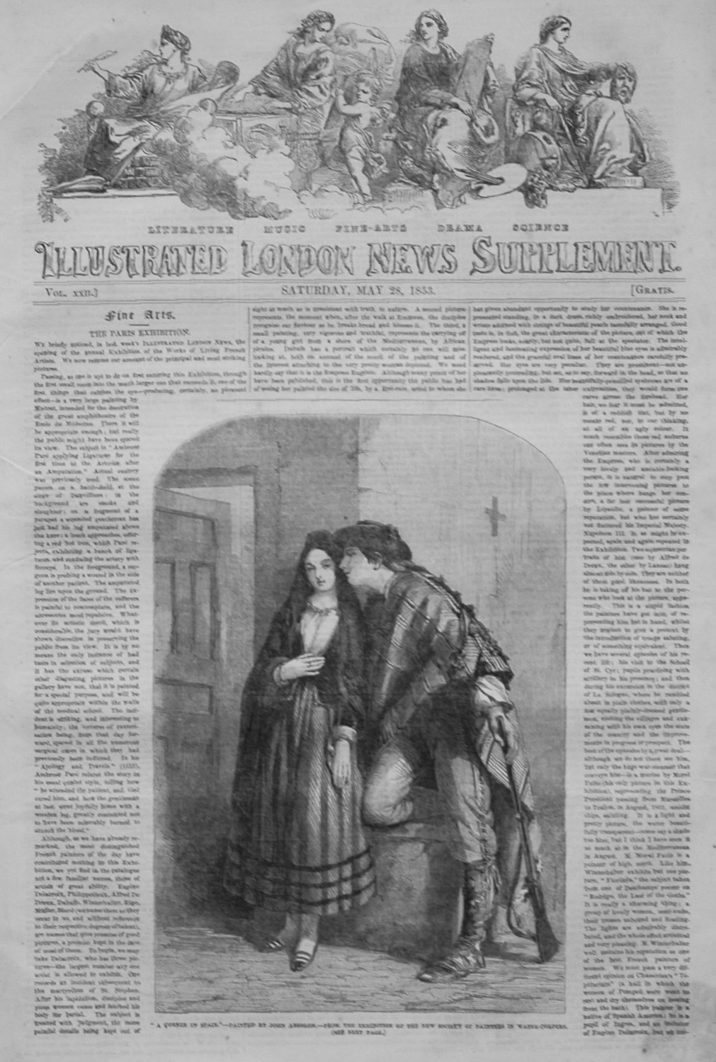 Illustrated London News, Supplement for May 28th 1853.
