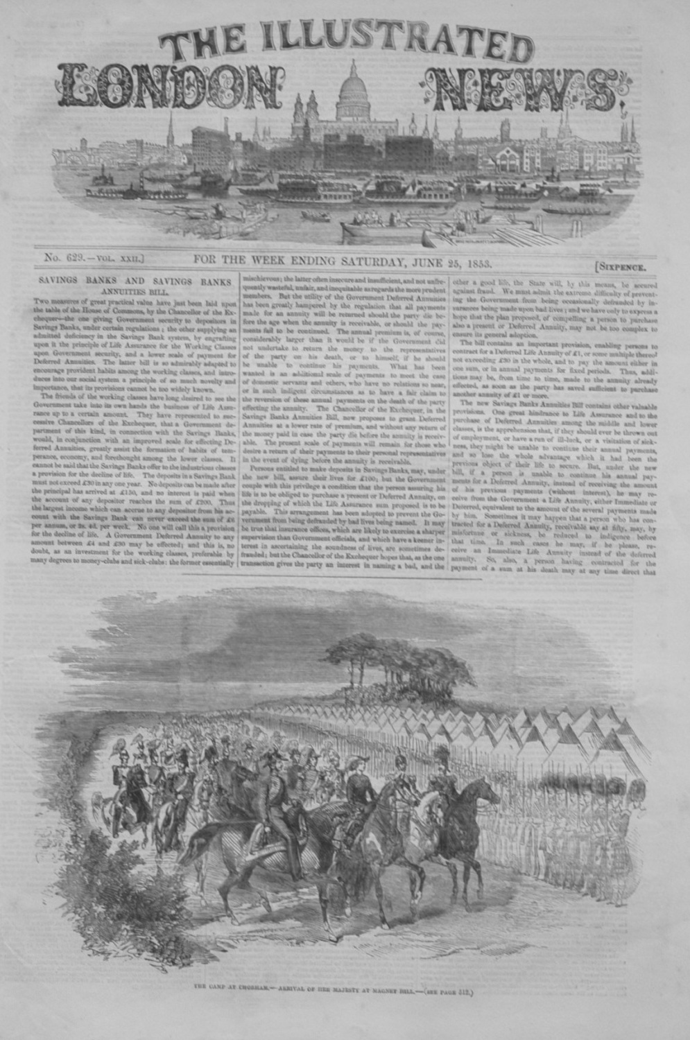 Illustrated London News June 25th, 1853.