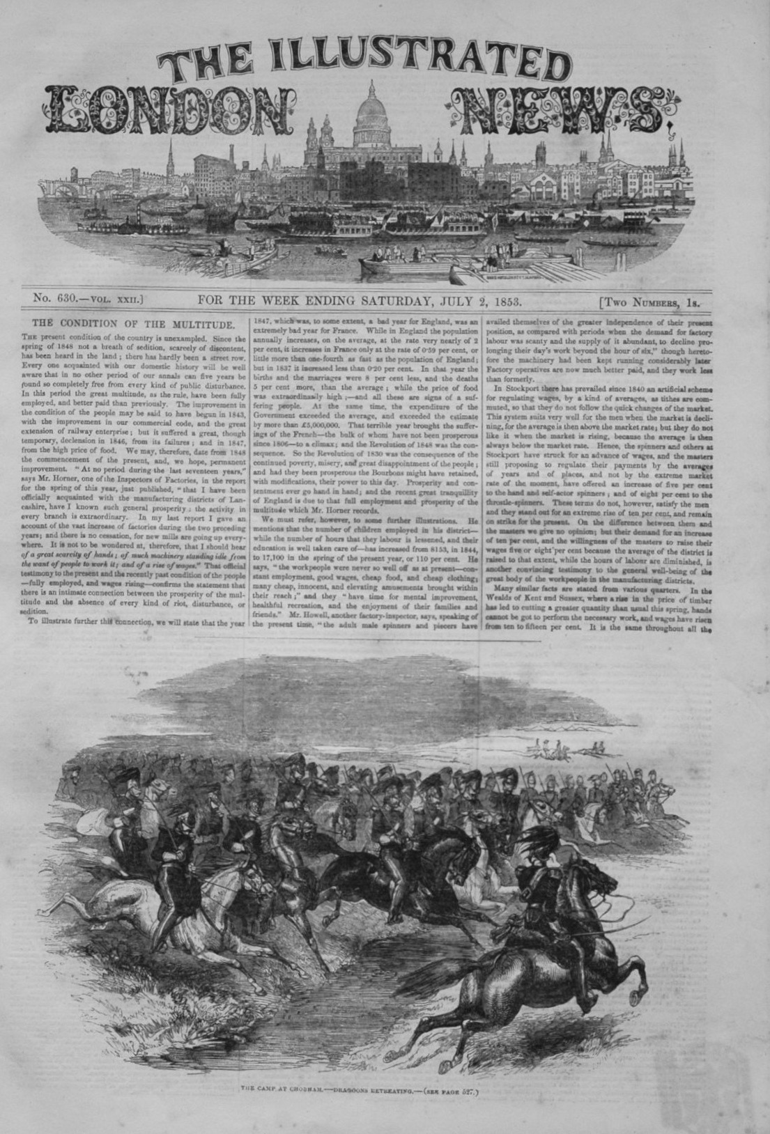 Illustrated London News for July 2nd 1853.