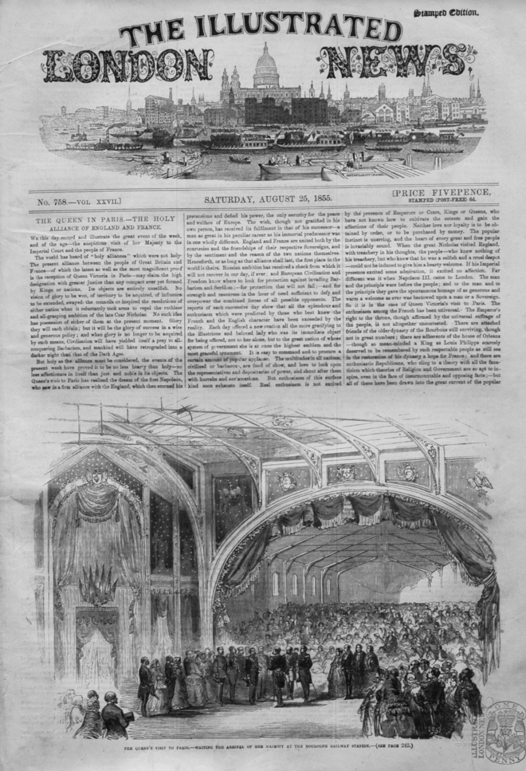 Illustrated London News for August 25th. 1855.