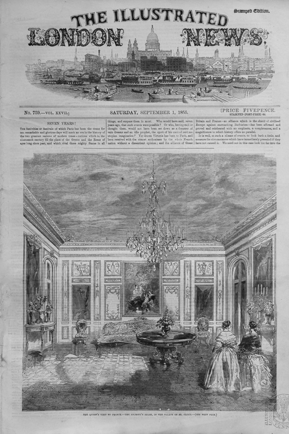 Illustrated London News September 1st 1855.