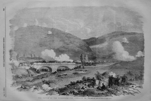 The Battle of the Tchernaya.- The Conflict on Traktir - Bridge.