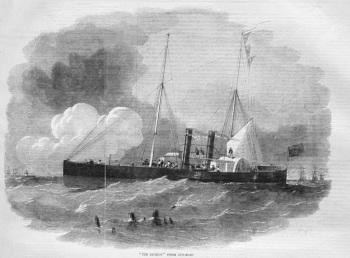 """""""The Recruit"""" Steamer Gun-Boat."""