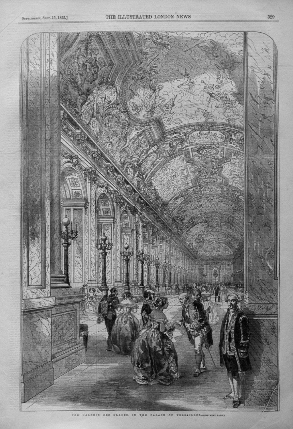 The Galerie Des Glaces, In The Palace of Versailles.