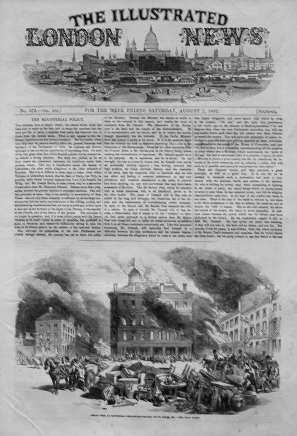 Illustrated London News August 7th 1852.