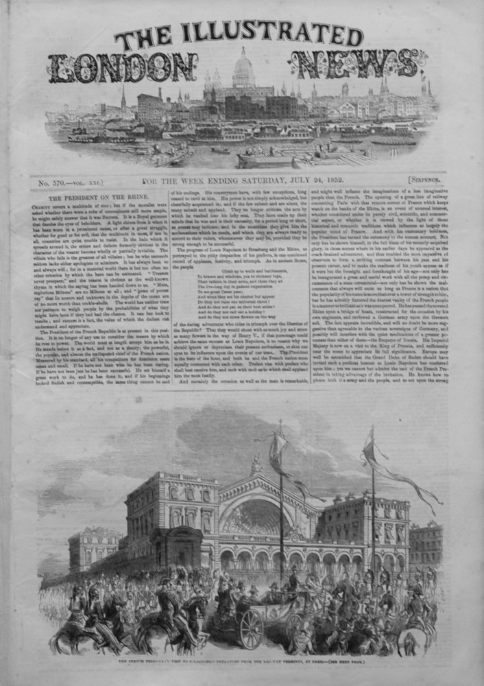 Illustrated London News July 24th 1852.