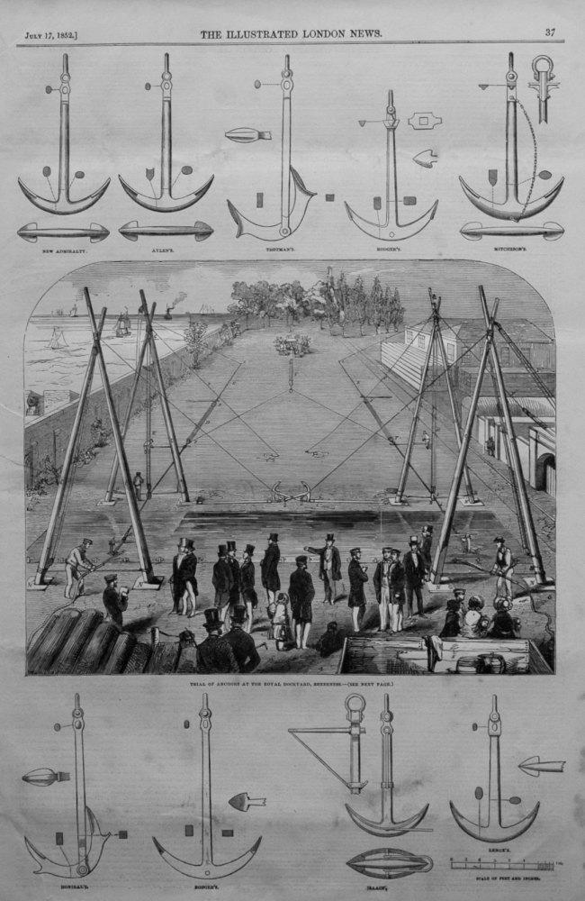 Trial of Anchors at the Royal Dockyard, Sheerness.