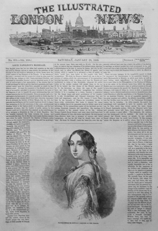 Illustrated London News January 29th 1853.