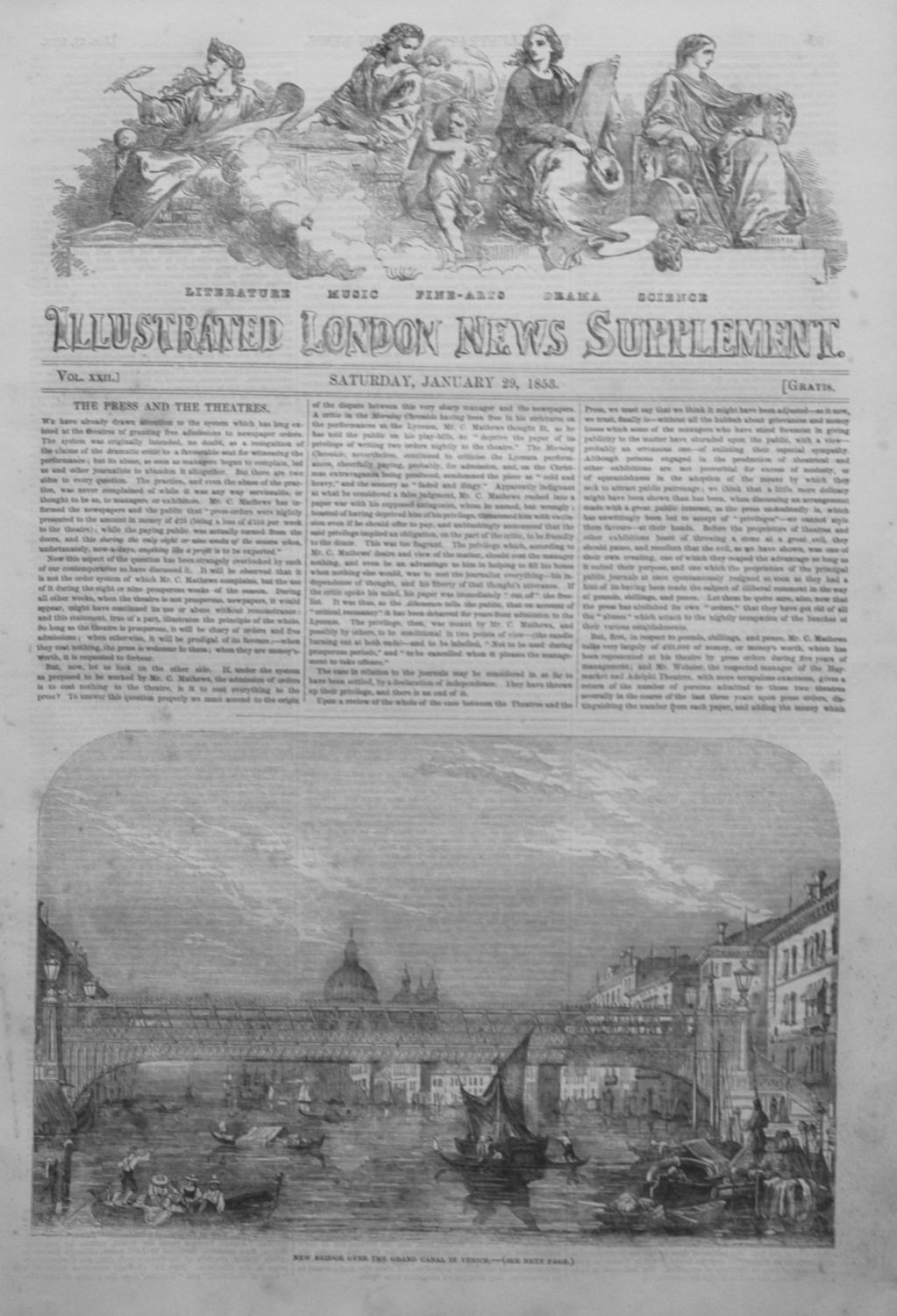 Illustrated London News (Supplement) For January 29th, 1853.