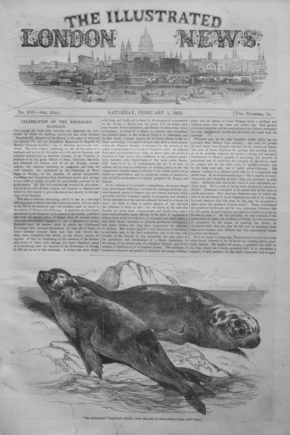 Illustrated London News February 5th 1853.