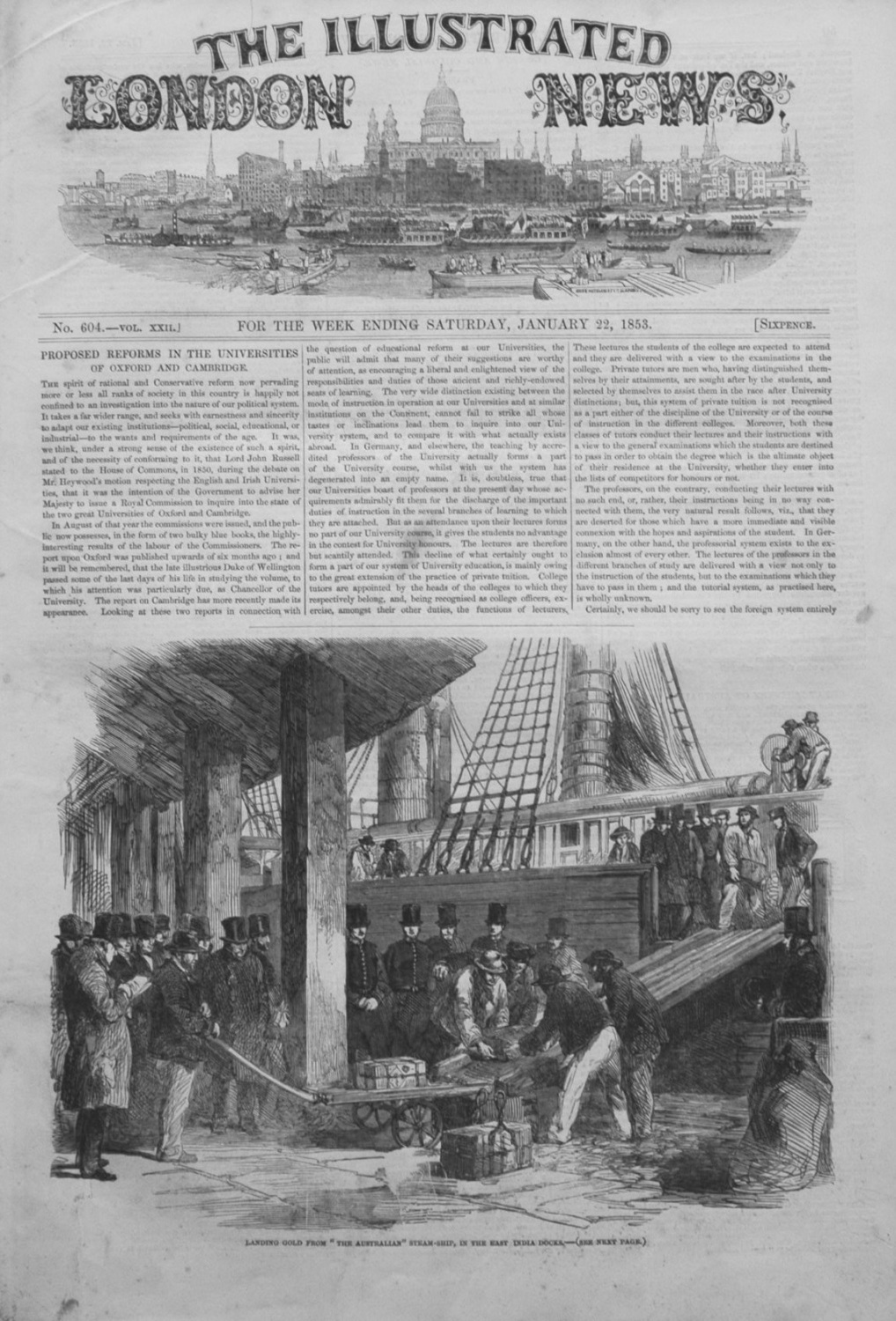 Illustrated London News January 22nd 1853.