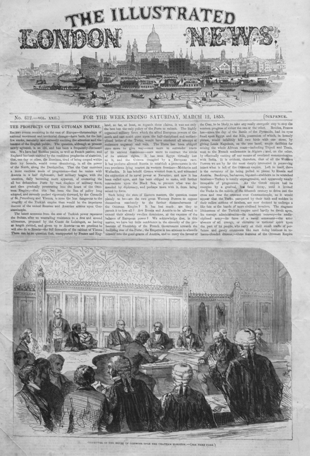 Illustrated London News March 12th 1853.
