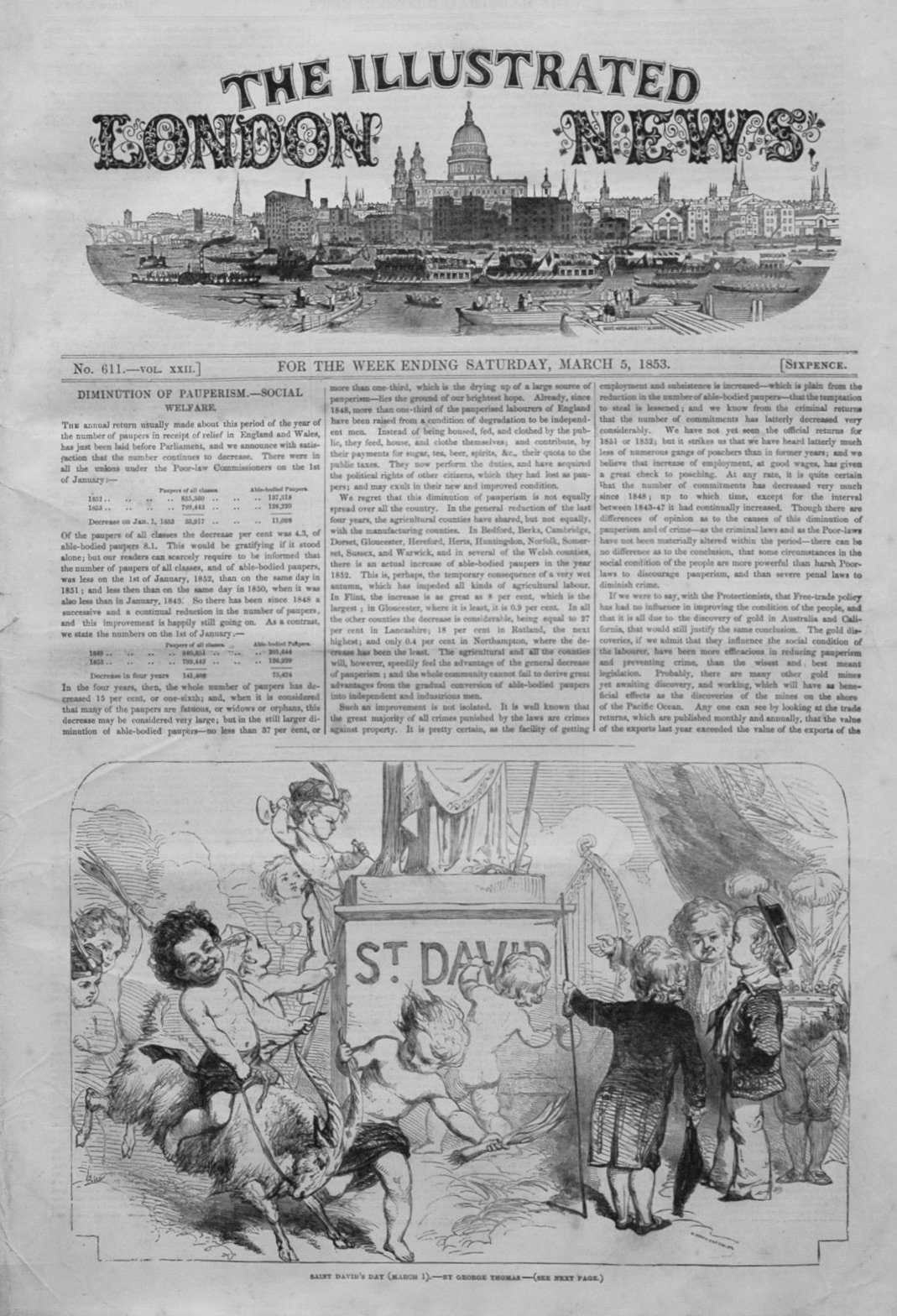 Illustrated London News March 5th 1853.