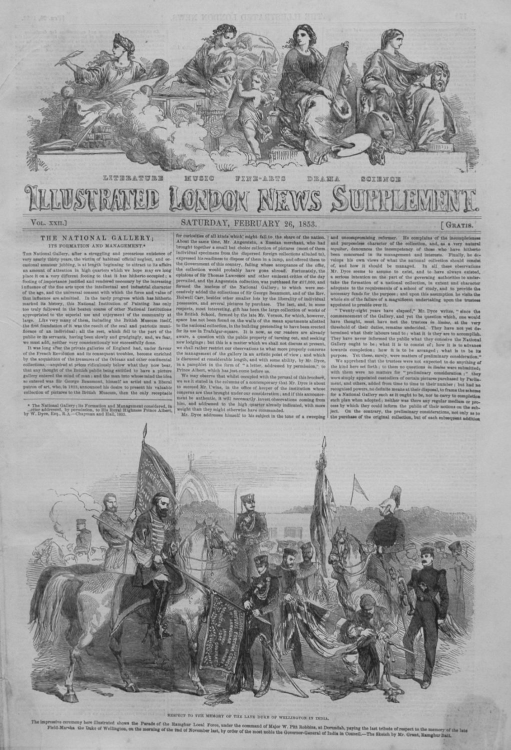 Illustrated London News (Supplement) February 26th 1853.