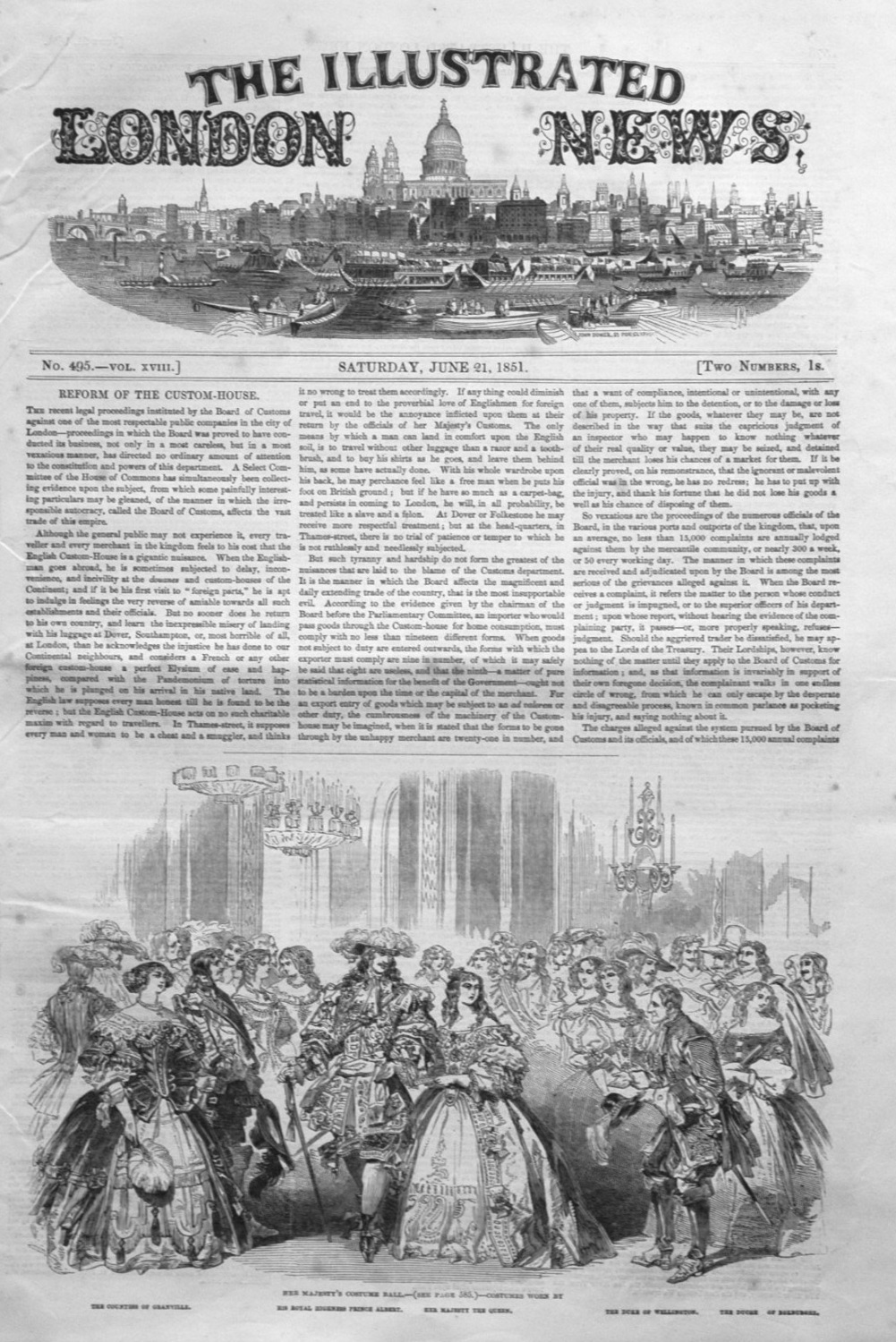 Illustrated London News June 21st 1851.