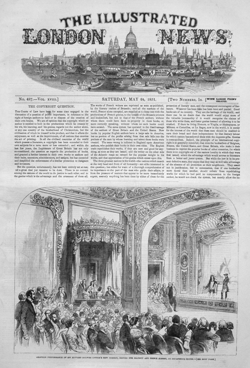 Illustrated London News May 24th 1851.