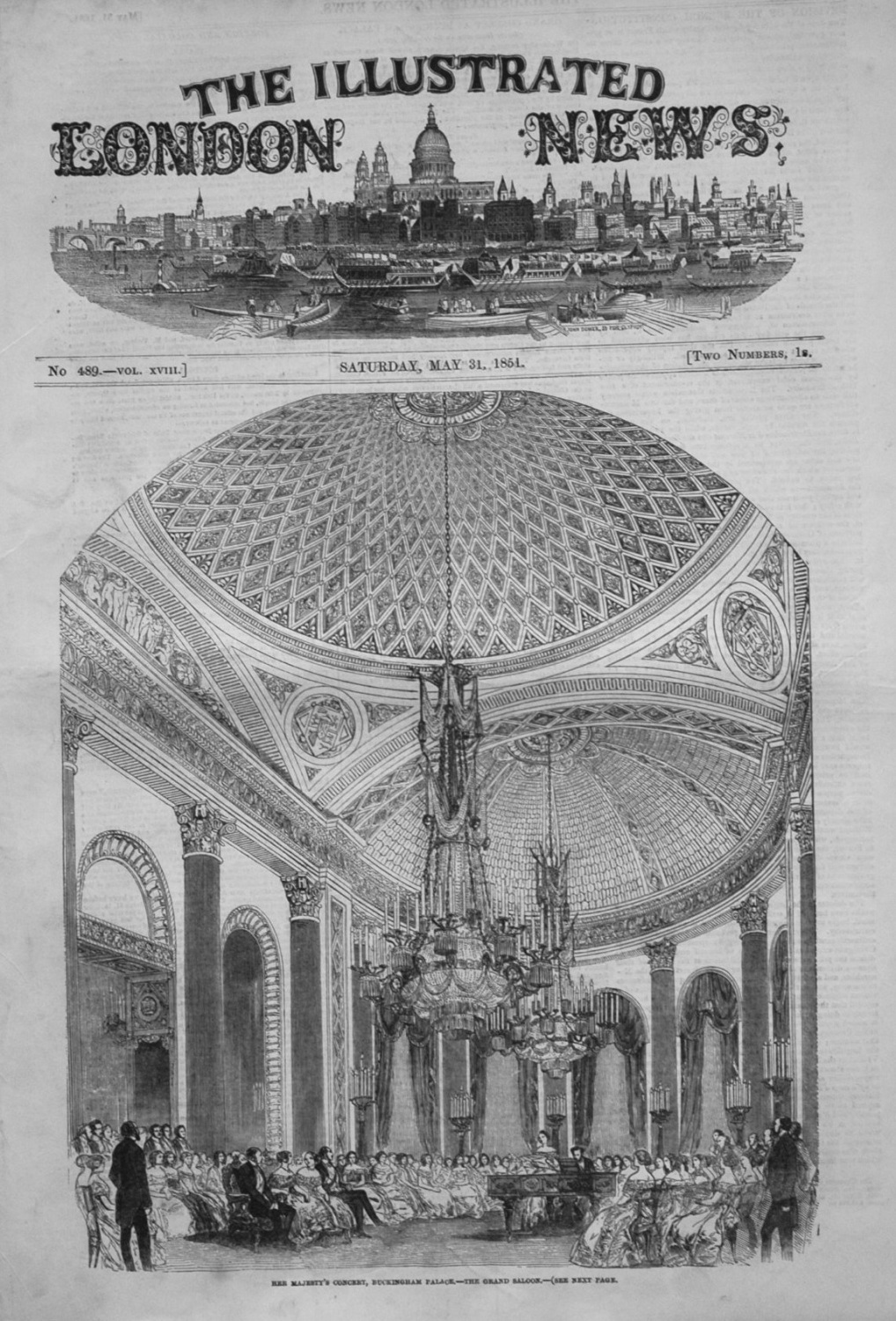 Illustrated London News May 31st 1851.