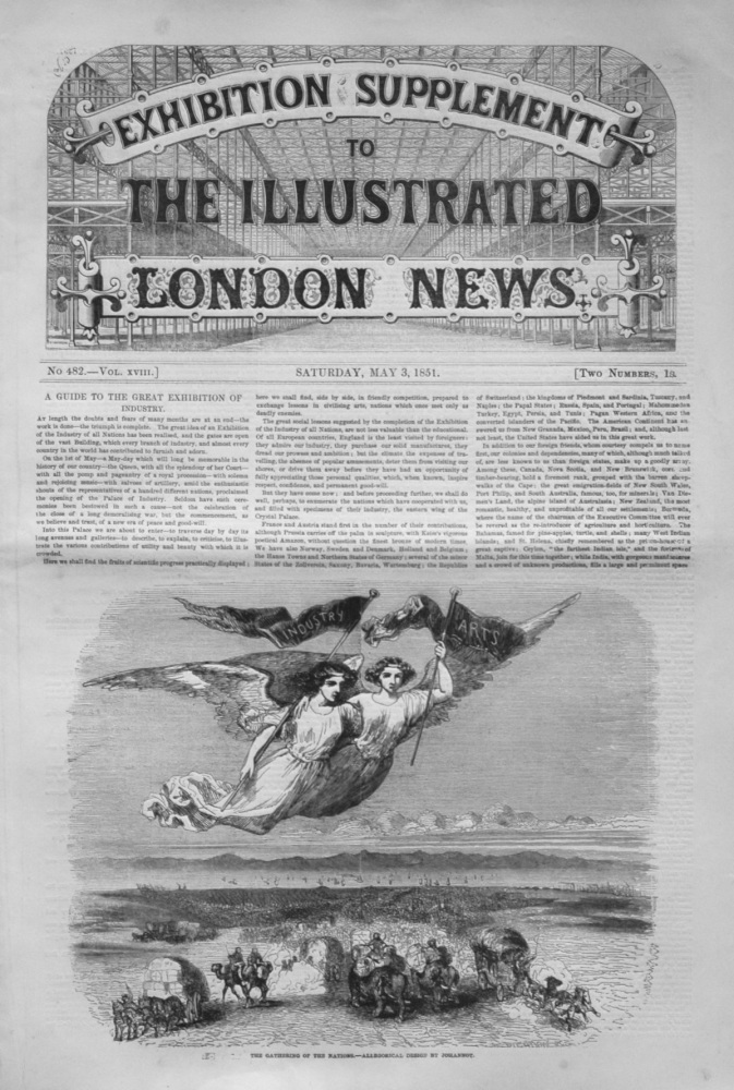 Exhibition Supplement to the Illustrated London News May 3rd 1851.