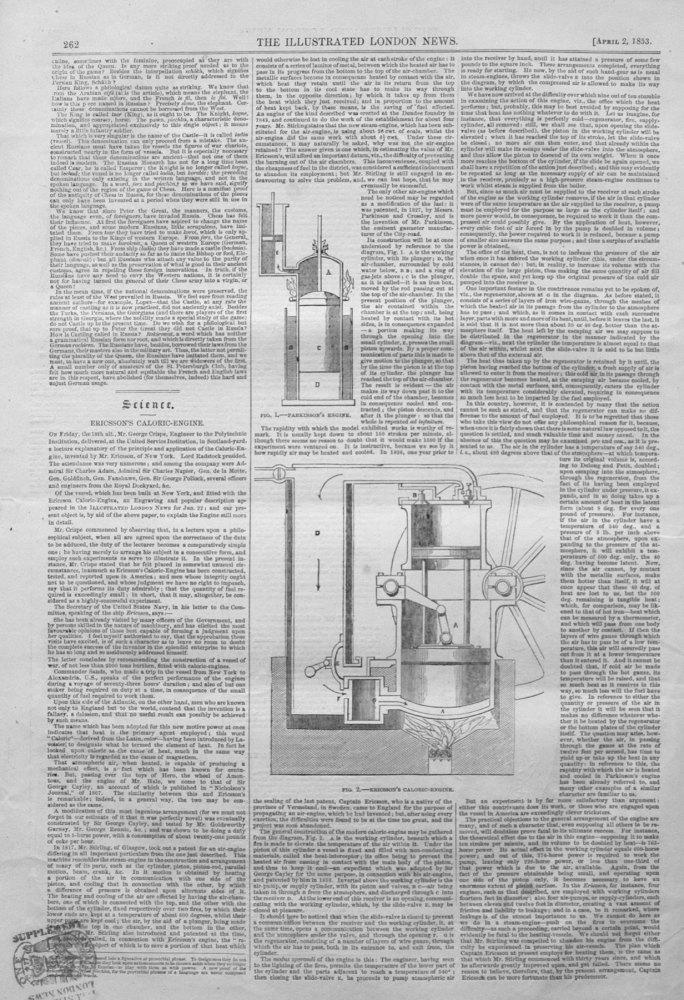 Ericsson's Caloric-Engine.