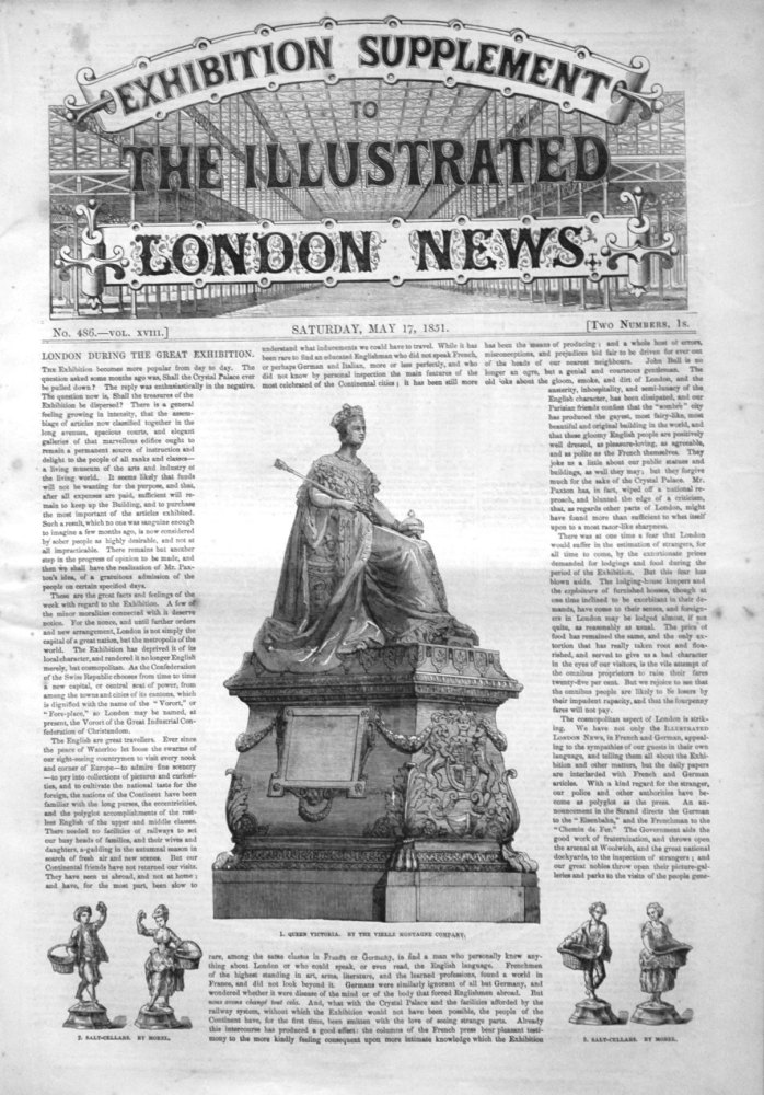 Exhibition Supplement to the Illustrated London News May 17th 1851.