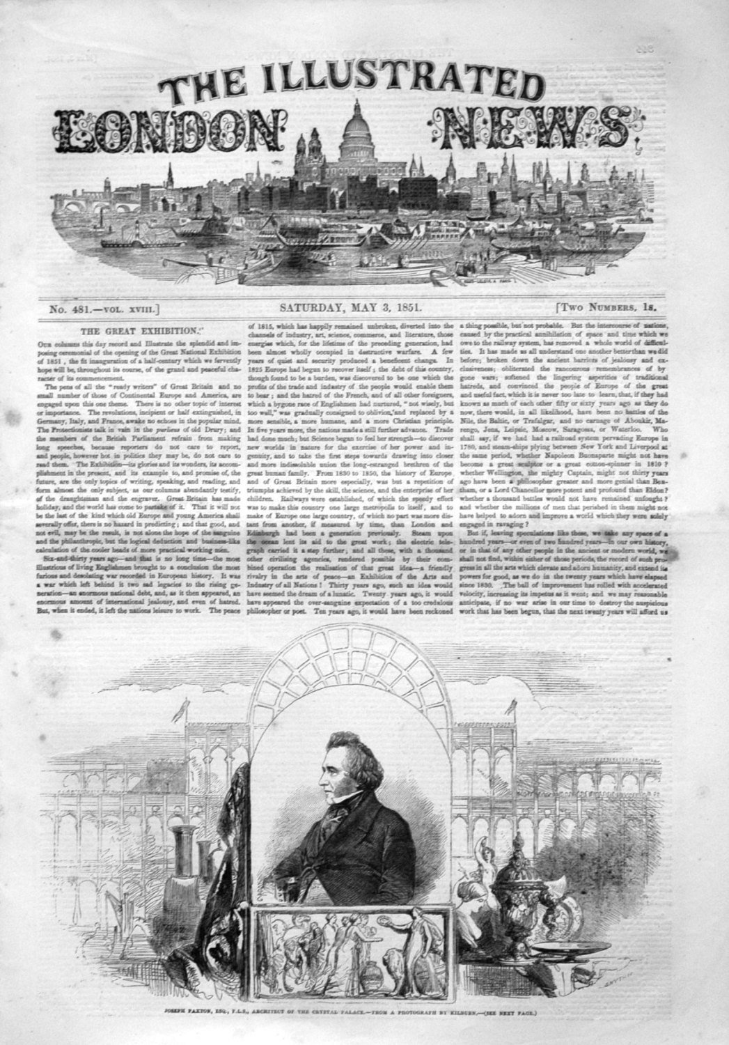 Illustrated London News May 3rd 1851.