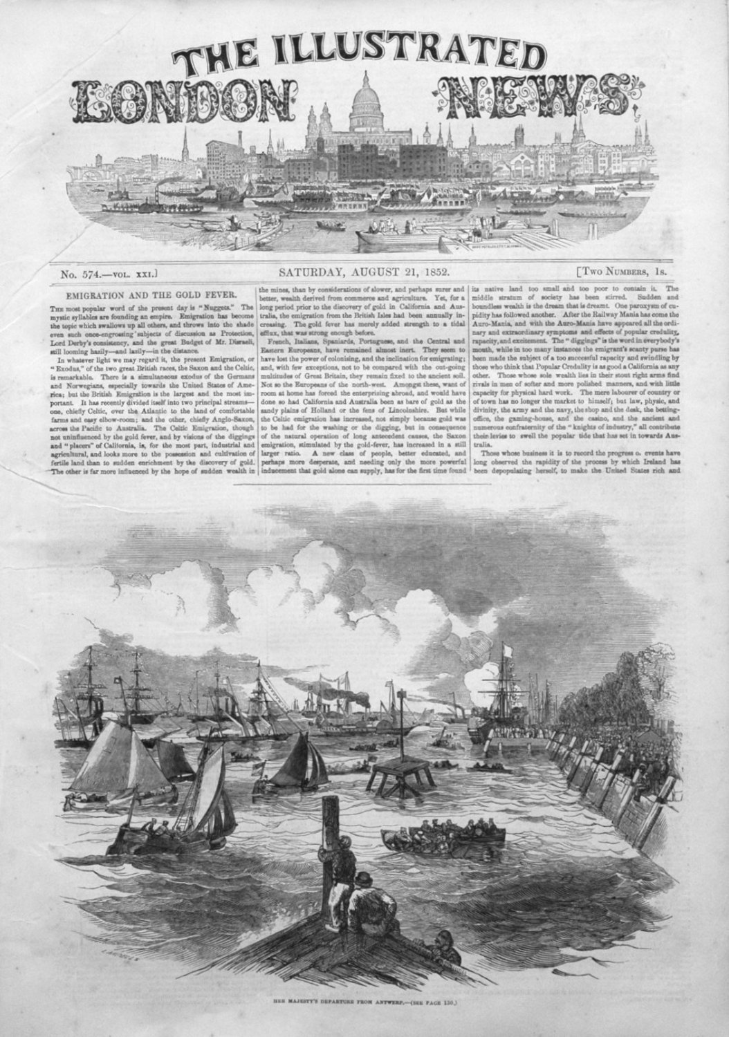 Illustrated London News August 21st 1852.