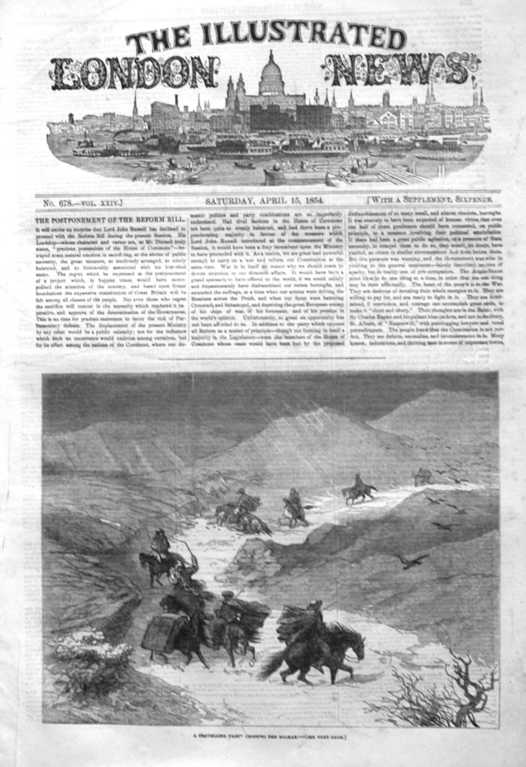 Illustrated London News April 15th 1854.
