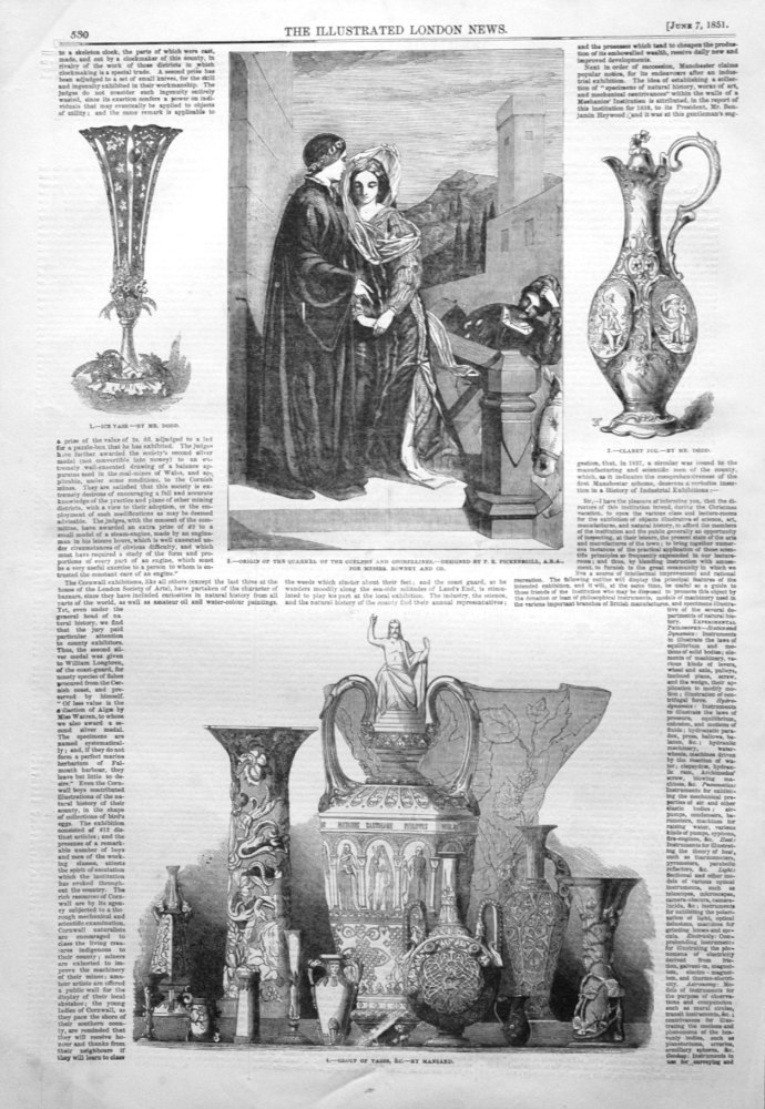 Group of Vases, &c. By Mansard. 1851.